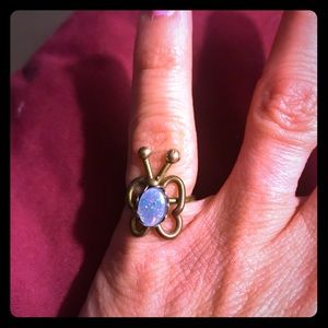 Jewelry - Antique butterfly ring with opal